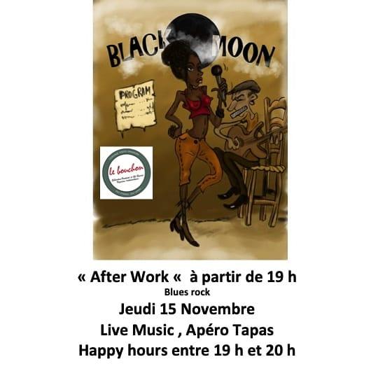 """Soirée musicale apéro tapas avec """"Black Moon"""" restaurant Le Bouchon Aiguèze"""