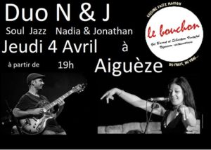 restaurant le bouchon aigueze duo N et J evenement soul jazz
